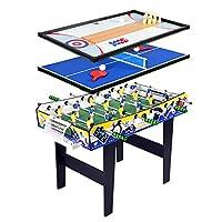 TORPSPORTS 多功能游戏桌,4 合 1 带桌足球桌,乒乓球/乒乓球桌,洗牌桌,保龄球桌。