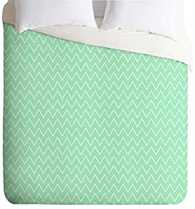 DENY Designs Allyson Johnson Classic Mint Lightweight Duvet Cover, King