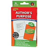 Edupress Reading Comprehension Practice Cards, Author's Purpose, Green Level (EP63426)