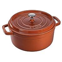 STAUB 圆形炖锅 24厘米 3.8升 Burnt Orange/Cinnamon