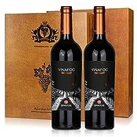 火葡园 干红葡萄酒(美乐)750ml*2一统天下礼盒