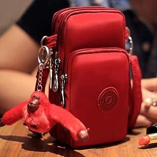 alsatek 通用包单肩包由织物聚苯乙烯制成,适用于索尼 Xperia Z L36H Yuga C6603 红色