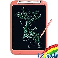 WINDEK Mibro LCD 寫字板 12 英寸電子兒童平板電腦墊,書寫和繪畫涂鴉板 適用于家庭、學校和辦公室XPHB001