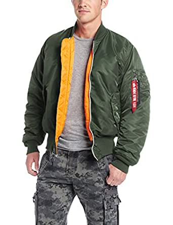 Alpha Industries 男士 MA-1 飞行员短夹克 Sage Green 2X Big