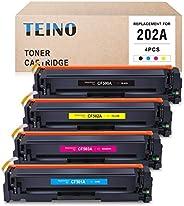 TEINO 兼容硒鼓替換件適用于 HP 202A CF500A CF501A CF502A CF503A 適用于 Color Laserjet Pro MFP M281fdw M281cdw M254dw M280nw(