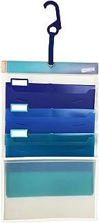 Esselte 整理用文件袋 A4 6口袋 冷色 22340 A4・3段袋 A4/3ポケット 炫酷颜色