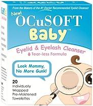 OCuSOFT 婴儿眼睑和睫毛清洁纸巾 20 ea 1包