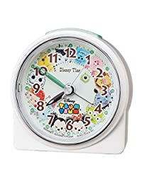Seiko 精工 座钟 闹钟 白色珍珠 尺寸:8.9 x 8.6 x 4.7cm 闹钟 迪士尼 TSUM FD481W
