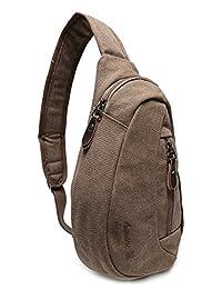 Weekend Shopper 单肩斜挎包迷你背包斜挎包双肩背包胸包适合男士和女士 iPad mini 7.9 英寸平板电脑包