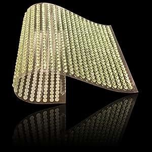 3000 件 3mm 或 1040 件 6mm 薄水晶人造钻石自粘宝石闪亮钻石贴纸 装饰汽车珠宝剪贴簿电话 Light Green 3mm 3mm, 6mm