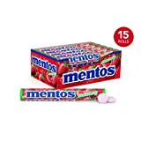Mentos Chewy Mint Candy Roll, Strawberry, Party, Halloween, 1.32 ounce/14 Pieces (Pack of 15)