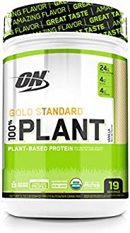 Optimum Nutrition 黄金标准 植物蛋白粉,香草,19 份装