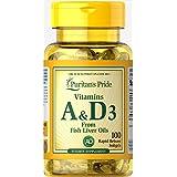 天然维生素A&D3 1片A5000IU·D400Iu 1日1片 100天份维生素A&D3