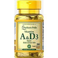 维生素A&D3 1片A5000IU·D400Iu 1日1片 100天份维生素A&D3