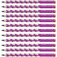 STABILO 322/01-HB EASYgraph 三角铅笔 适合右手使用者 硬度 HB 12 件装 粉色