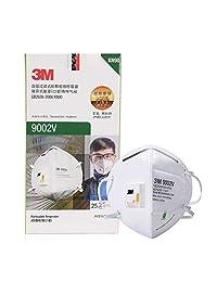3M口罩 9002VKN90防护级别 90%过滤效率 呼吸阀头戴式独立包装 25只/盒(亚马逊自营商品, 由供应商配送)