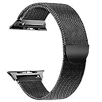 BRG 兼容苹果手表表带 38 毫米(40 毫米),42 毫米(44 毫米)不锈钢网米兰环替换件适用于 iWatch 表带 兼容 Apple Watch 系列 4(40 毫米44毫米)3 2 1(38 毫米42毫米)