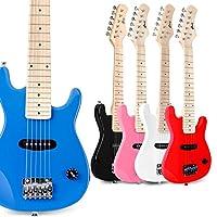 WINZZ 30 英寸真实儿童电吉他,带初学者套件.