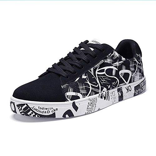 Virility 温尔仕 2017夏季新款英伦潮流涂鸦帆布鞋 时尚低帮休闲男鞋 透气学生板鞋 XLDS9923-V