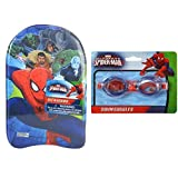 Marvel 蜘蛛侠儿童海绵游泳踢水板和泳池护目镜