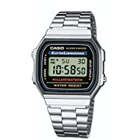 Casio 卡西欧 A168W-1 男士不锈钢手表