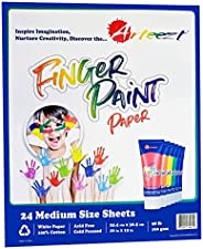 Arteezt 手指画纸垫 - *,儿童绘画和绘画,耐用艺术用品 - 家庭和教室早期学习艺术和工艺品