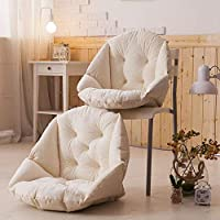 Le Bronte 毛绒餐椅垫 学生加厚保暖连体坐垫 办公室护腰靠垫 一体电脑椅垫 (米色)