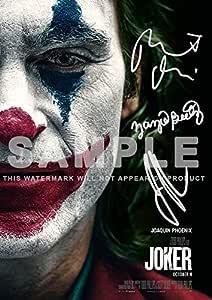 """标志性图像小丑电影印刷照片 PP Sig Joaquin Phoenix,Zazie Beetz,Robert De NIRO 电影蝙蝠侠 11.7"""" x 8.3"""""""