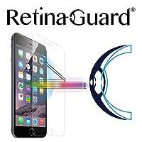 RetinaGuard 抗藍光鋼化玻璃屏幕保護膜 適用于 iPhone6S / 6 - SGS & Intertek 測試 - 阻擋過多的有害藍光,減少眼部*和眼部應變