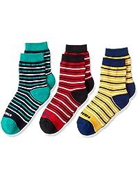 [CONVERSE] 3P 横条纹脚底绒毛圆领长袜 儿童 118-28J5