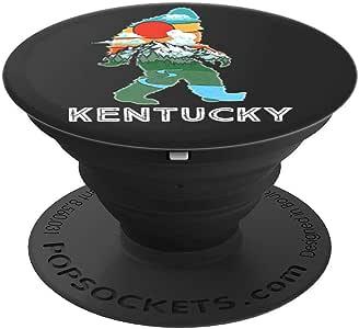 Kentucky 大脚自然与山地插图复古 PopSockets 手机和平板电脑握架260027  黑色
