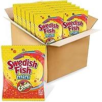 Swedish Fish Mini Candy, Crush Soda Fruit Mix Flavor, 12 Bags (3.6 Oz.), 12Count
