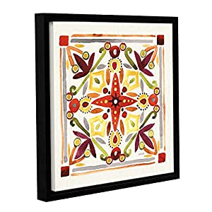 "Tremont Hill Anne Tavoletti ""秋季花朵瓷砖 III""画廊包边油画 18X18"" 2tav077a1818w"