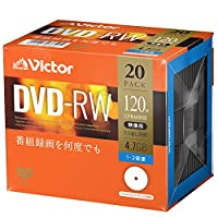 Victor Victor 录像用DVDVHW12NP20J1 くり返し録画用 20枚(プラケース入)