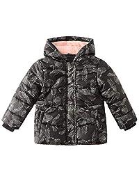 SNOW DREAMS 女童冬季羽绒夹克保暖羊毛内衬连帽外套