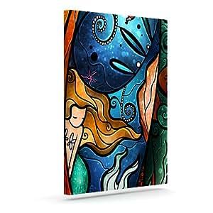 "Kess InHouse Mandie Manzano""Fathoms Below Mermaid""户外帆布墙艺术 20"" x 24"" MM3028AAC04"