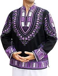 RaanPahMuang 中国普通立领长袖非洲长袍衬衫