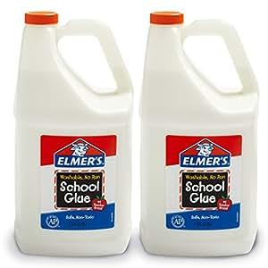 Elmer's 液体胶水 学生手工 适合做粘液、黏泥 可洗 3.78L 2桶