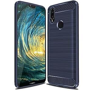 华为 P20 Lite 手机壳,华为 Nova 3E 手机壳,Suensan TPU 减震技术提升边框保护套适用于华为 P20 Lite 智能手机 TPU Blue