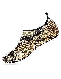 BEOT 3D 印花水上运动鞋赤脚速干蓝色大理石水瑜伽袜男女款