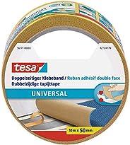 tesa 德莎 用于地毯铺设以及手工艺品和装饰品的双面胶带,10米x 50毫米 米色 10m:50mm