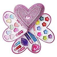 Liberty 进口 小女孩化妆品玩具套装 — 可洗* — 公主真化妆包带盒 — 儿童理想礼物 心形 粉红色