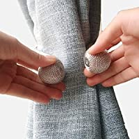 现代简约窗帘绑带创意磁铁扣免打孔挂钩墙钩卧室绳子绑带 (灰蓝(40cm2条装))