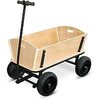 """小脚 9930 木制和金属手推车 """"XXL"""" 材质,非常适合大型购买,结实橡胶轮胎"""