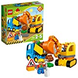 LEGO 乐高  拼插类 玩具  DUPLO 得宝系列 卡车和挖掘车套装 10812 2-5岁 婴幼