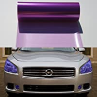 F & B LED 灯 30.48 x 121.92 厘米自粘前灯,尾灯,雾灯贴膜乙烯薄膜 12 X 48 紫色 MPN