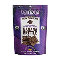 Barnana Organic Crunchy Banana Brittle - Dark Chocolate, 3.5 Ounce - Healthy Vegan Cookie Style Dessert Snack - Made with Sustainable, Eco Friendly Upcycled Bananas