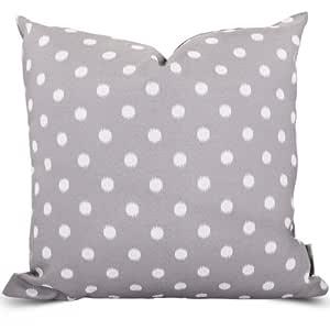 Indoor/Outdoor Ikat Dot Throw Pillow 灰色 大