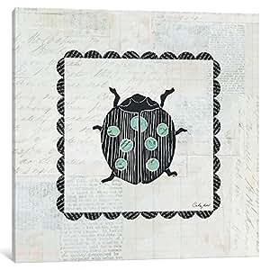 icanvasart wac4168–1pc3–12X 12icanvas 瓢虫邮票画廊装裱帆布艺术印刷品作者 courtney prahl