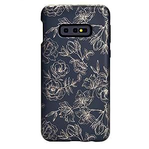 天鹅绒 Caviar Galaxy S10E 手机壳 - 适合女孩女士的可爱高级保护手机壳 [跌落测试认证] 保护套适用于三星 Galaxy S10E Floral Rose Gold